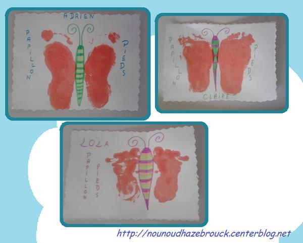 Papillons pieds