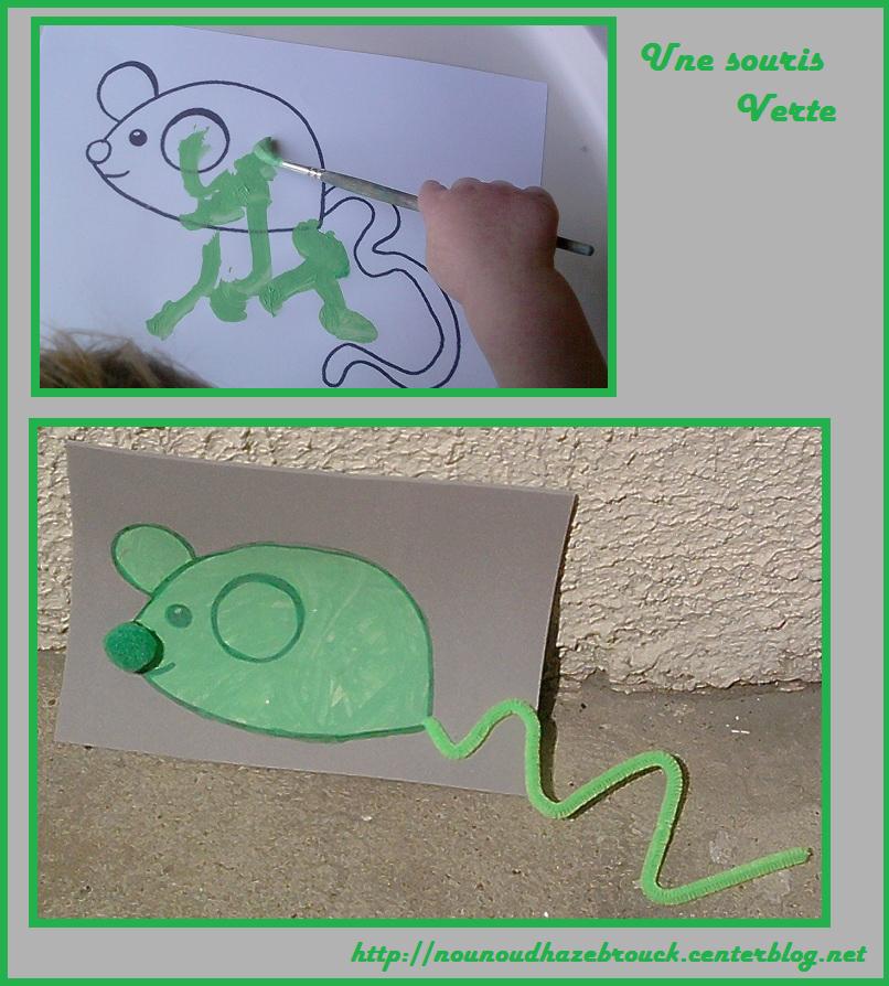Bricolage animaux - Une souris verte singe ...